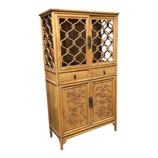 Vintage Boho Chic Asian Cabinet
