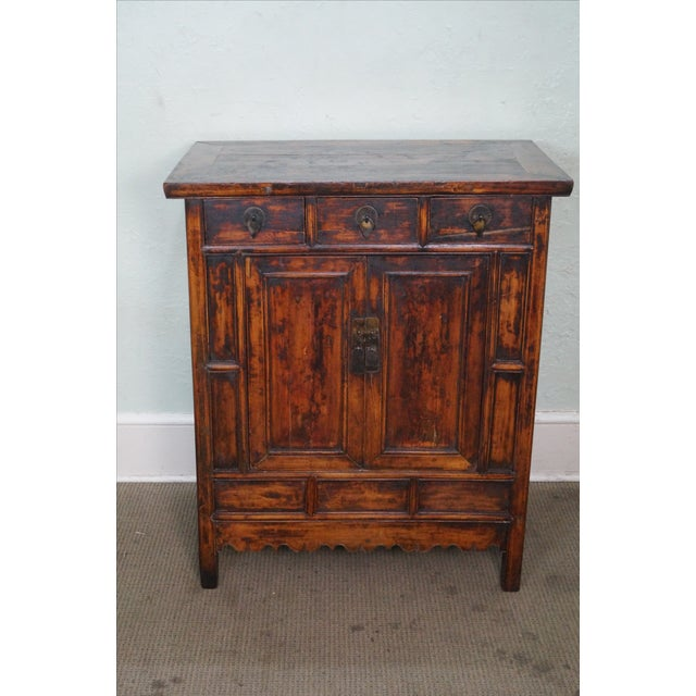 Rustic Chinese Console with Drawers - Image 2 of 10