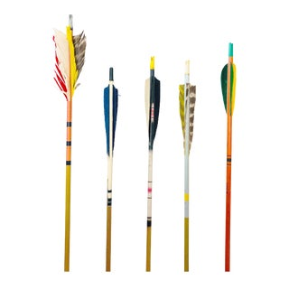 Colorful Vintage Arrows - Set of 5 For Sale