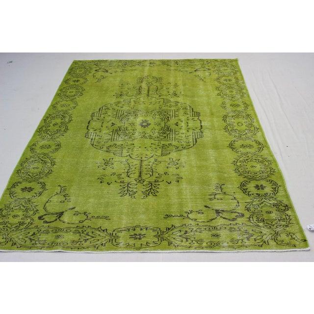 Islamic Ori̇ental Turki̇sh Overdid Rug - 6.3 x 9.6 For Sale - Image 3 of 7