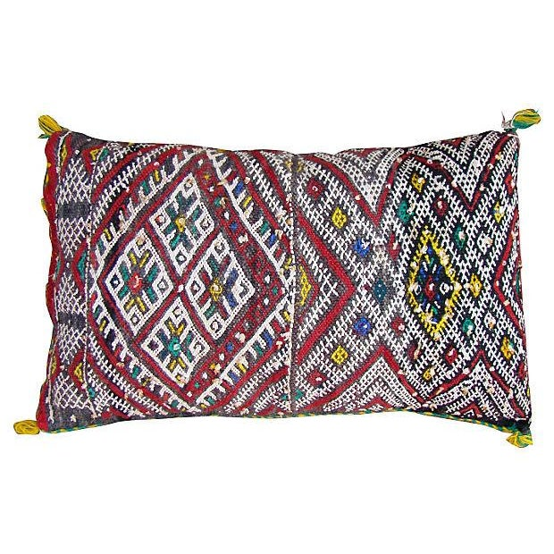 Moroccan Red Berber Sham Pillow For Sale