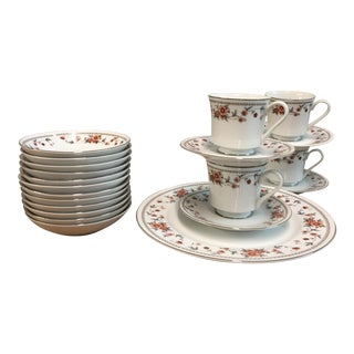 "Sheffield ""Anniversary"" Pattern Japan Dinnerware - Set of 21"