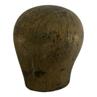 20th Century Wooden Yellow Industrial Hat Form For Sale