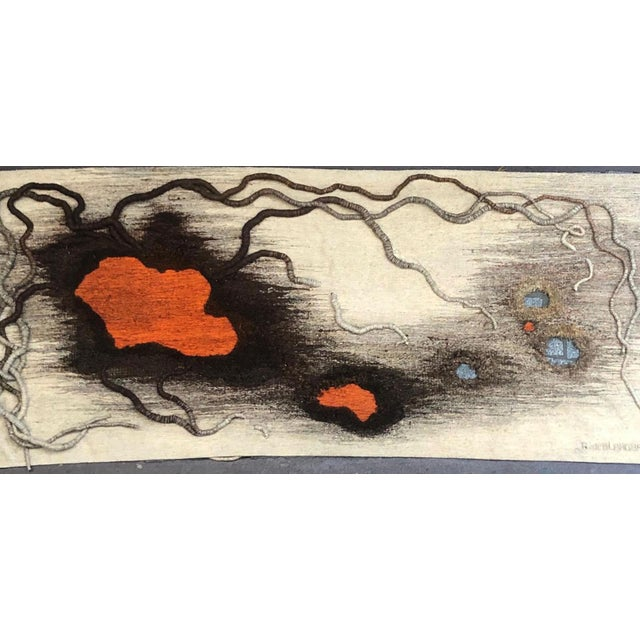 """1980s Contemporary Tapestry by Anne De Blander, """"Timanfaya"""" For Sale - Image 5 of 5"""
