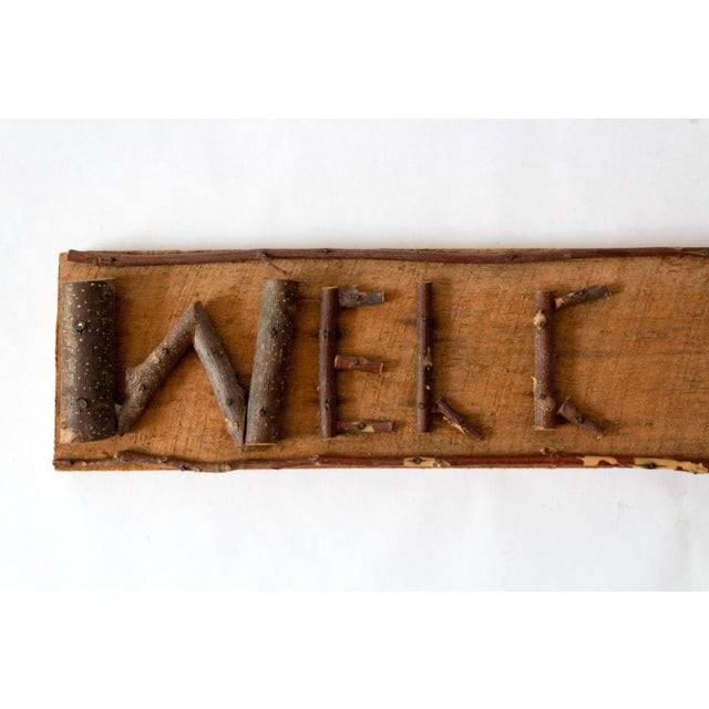 Country Rustic Twig Welcome Sign For Sale - Image 3 of 6