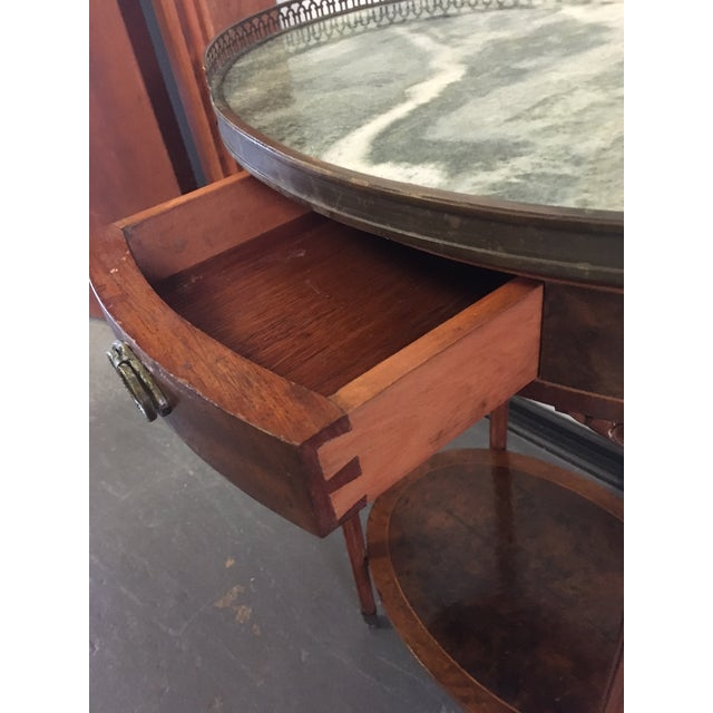 1900s French Oval Side Table With Marble Top For Sale - Image 12 of 13