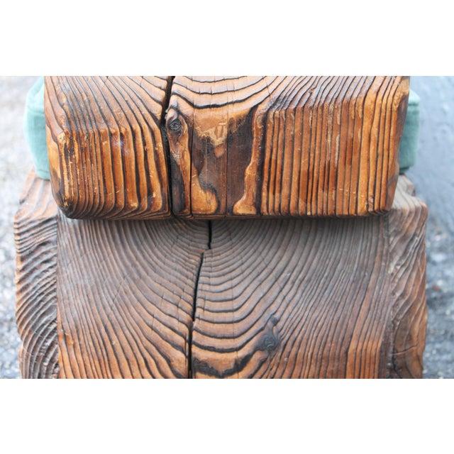 1940's Mid-Century Carved Wood Sitting Bench - Image 8 of 11
