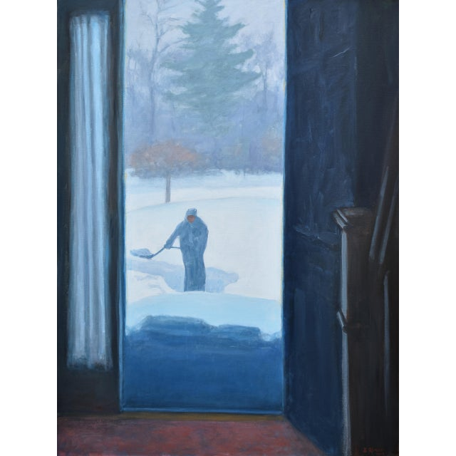 "Stephen Remick ""Shoveling Out"" Contemporary Painting For Sale - Image 12 of 12"