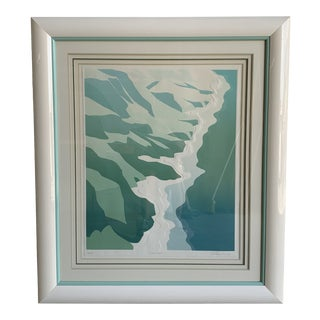 "Warren Woodward Embossed Serigraph ""Island Shores"" For Sale"