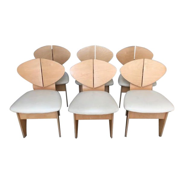 Mid-Century Inspired Dining Chairs - Set of 6 For Sale
