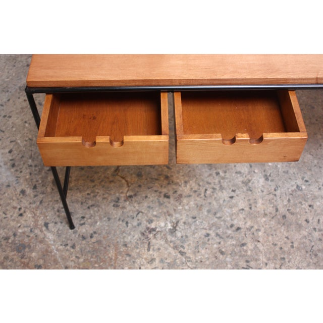 Paul McCobb for Winchendon Maple and Iron Console / Media Table For Sale - Image 10 of 13