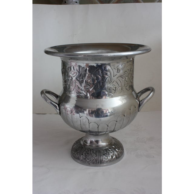 Etched Silver Metal Wine Bucket - Image 2 of 3