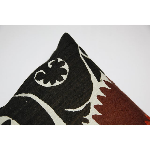 Textile Handwoven Suzani Pillow Cover For Sale - Image 7 of 11