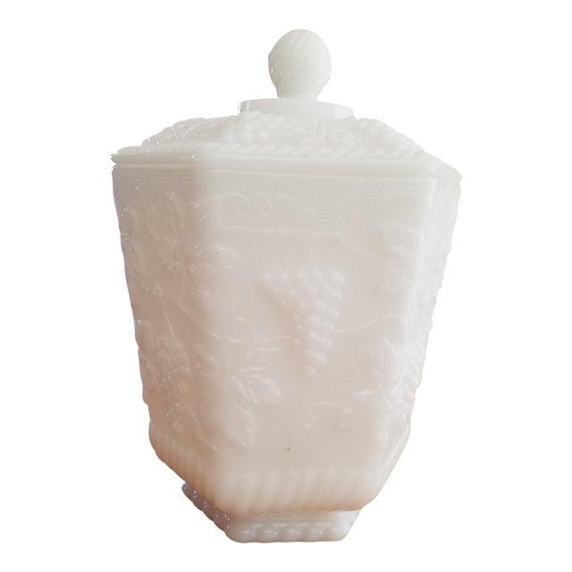 Anchor Hocking White Milk Glass Jar - Image 1 of 3