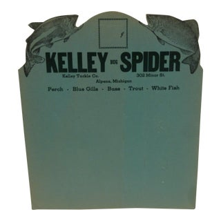 "Vintage ""Kelley Tackle Co."" Cardboard Advertising Stand-Up Sign"