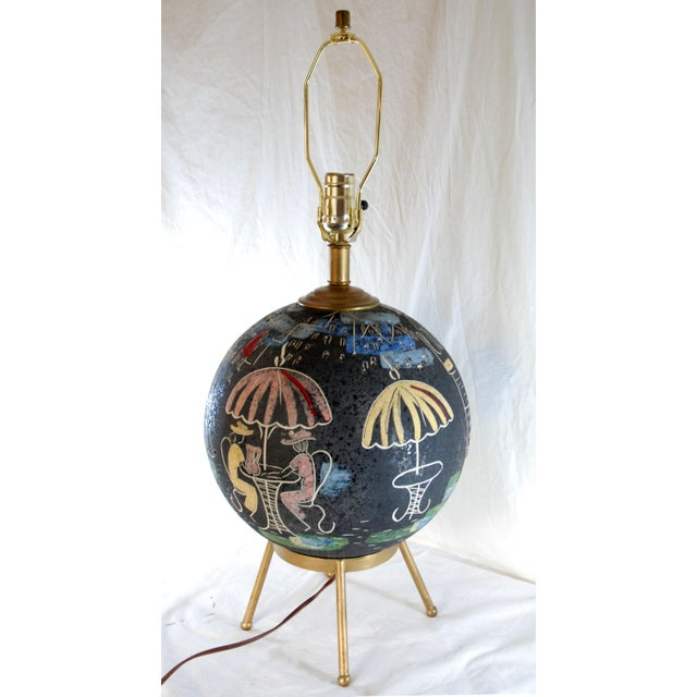 Mid-Century Atomic Cafe Paris Table Lamp - Image 2 of 7