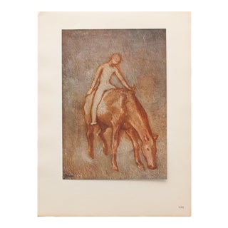 """1948 Pablo Picasso Original """"Naked Boy on a Horse"""" Period Lithograph, C. O. A. For Sale"""
