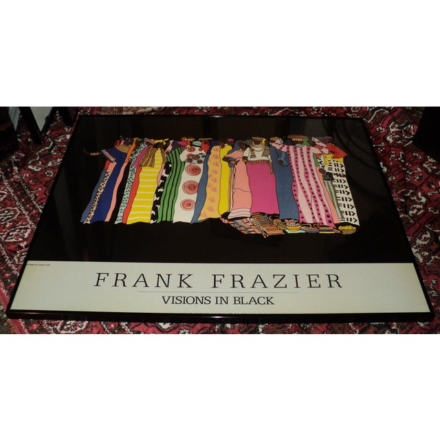 """Large African American Frank Frazier """"Visions in Black """" Lithograph Poster For Sale - Image 4 of 9"""