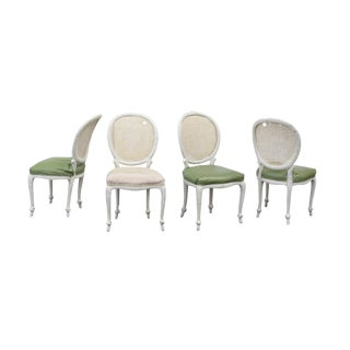 French Style Dining Chairs With Carved Faux Rope Frames