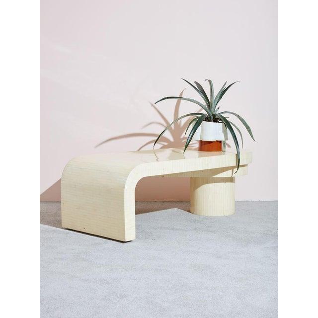 Art Deco Tessellated Bone Swivel Coffee Table For Sale - Image 3 of 5
