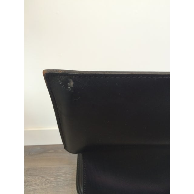 """Metal Marcatre Black Leather & Chrome """"Uno"""" Chair For Sale - Image 7 of 10"""