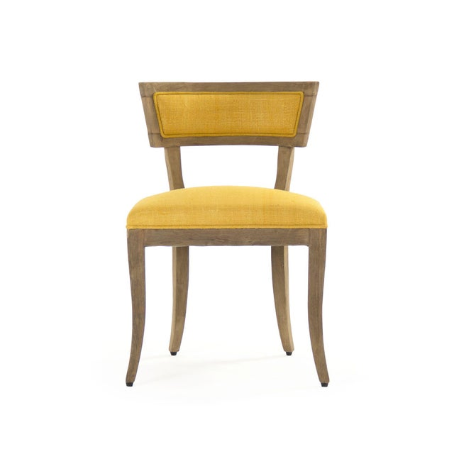 Rochester Side Chair in Yellow For Sale - Image 4 of 4
