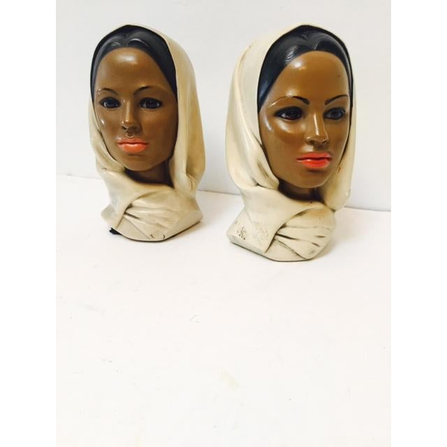Marwal Arab Female Busts - A Pair - Image 2 of 5
