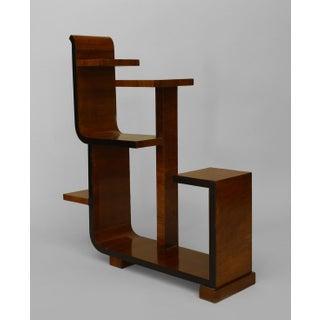 French Art Deco Walnut Small Etegere (Tier Table)