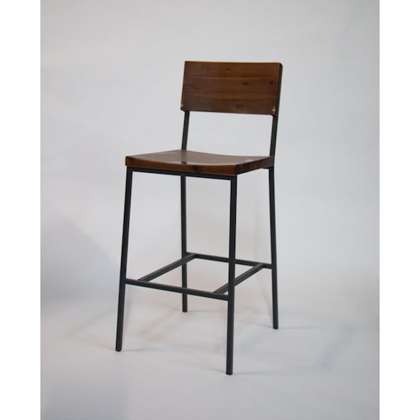 Rustic Rustic Bar Stool For Sale - Image 3 of 3