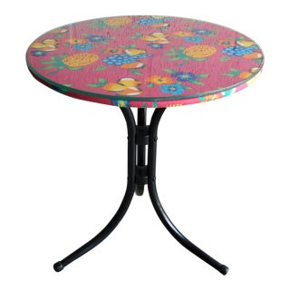 1980s Fruity Tiki Tropical Side Table For Sale