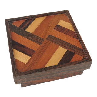 Don Shoemaker Mid Century Modern Rosewood Box For Sale