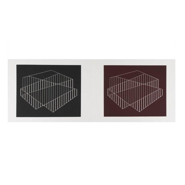 Josef Albers Diptych Silkscreen No. 6 Portfolio II For Sale In New York - Image 6 of 6