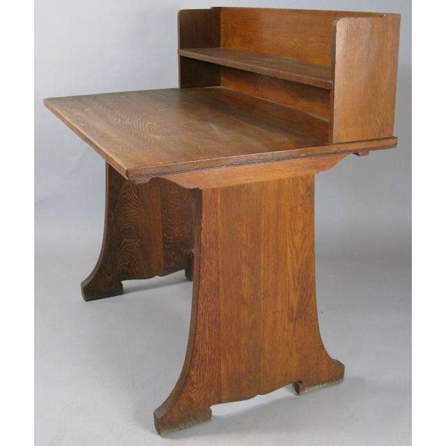 Arts & Crafts Antique Arts & Crafts Oak Desk From Harvard Divinity School For Sale - Image 3 of 8