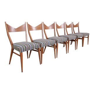 Paul McCobb for Directional Bow Tie Dining Chairs, Set of Six For Sale