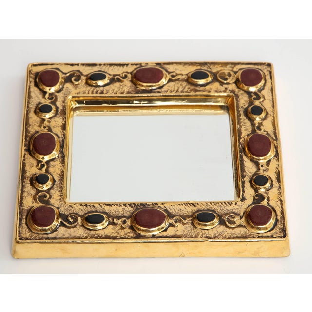 Late 20th Century Jeweled François Lembo Mirror For Sale - Image 5 of 8