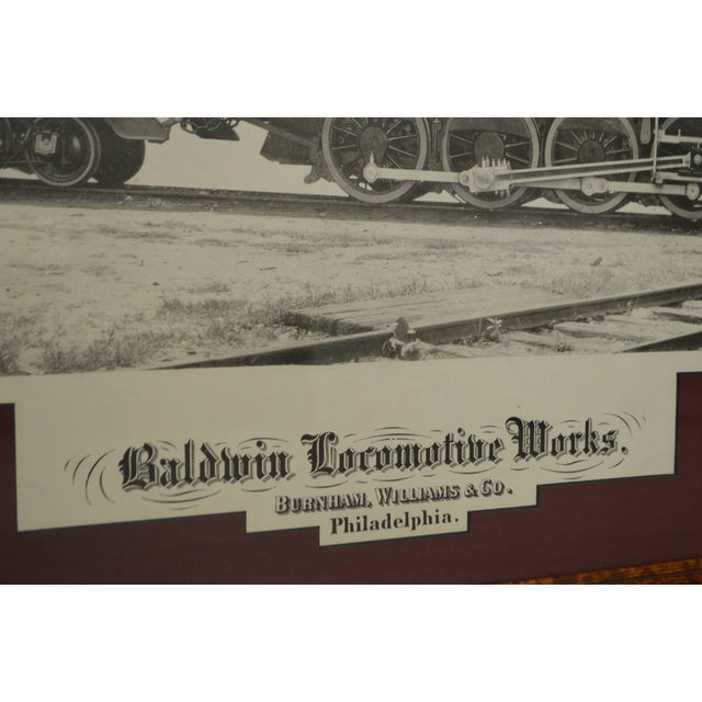 Baldwin Locomotive Works Pair of Vintage Framed Train Prints For Sale - Image 10 of 11