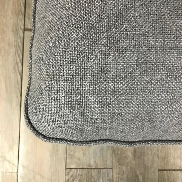 Gray Modern Armless Club Chair - Image 7 of 11