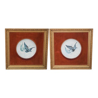 Victorian Paintings of Doves From 1880 - A Pair For Sale