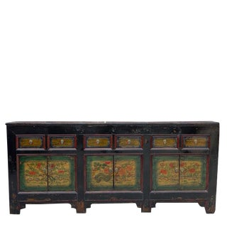 1930s Asian Antique Qinghai Buffet Sideboard For Sale