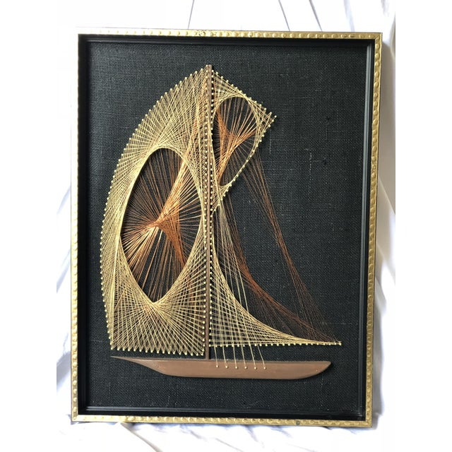 Mid-Century Sailboat Wire String Art For Sale - Image 12 of 12