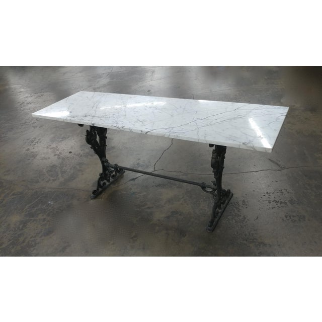 "19th century French iron & marble top Pastry Table -Gorgeous ! size 68w x 20d x 30""h A beautiful piece that will add to..."