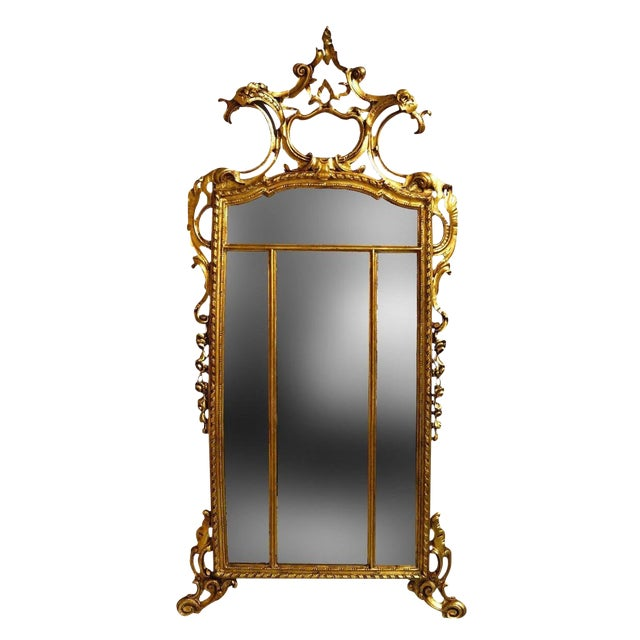 19th Century Louis XIV Style Gilt Wood and Gesso Mirror For Sale - Image 13 of 13