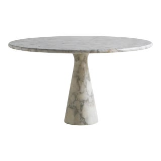 M1 Carrara Marble Dining Table by Angelo Mangiarotti For Sale