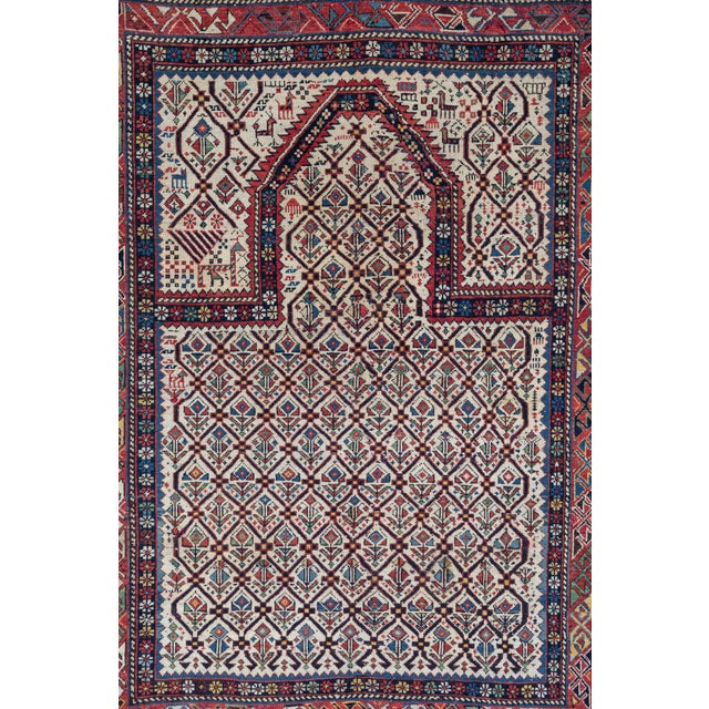 Shirvan 19th Century Caucasian Rug - 3′11″ × 5′6″ For Sale In Los Angeles - Image 6 of 9