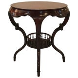 Image of Early 20th Century Antique Mahogany Round Table For Sale