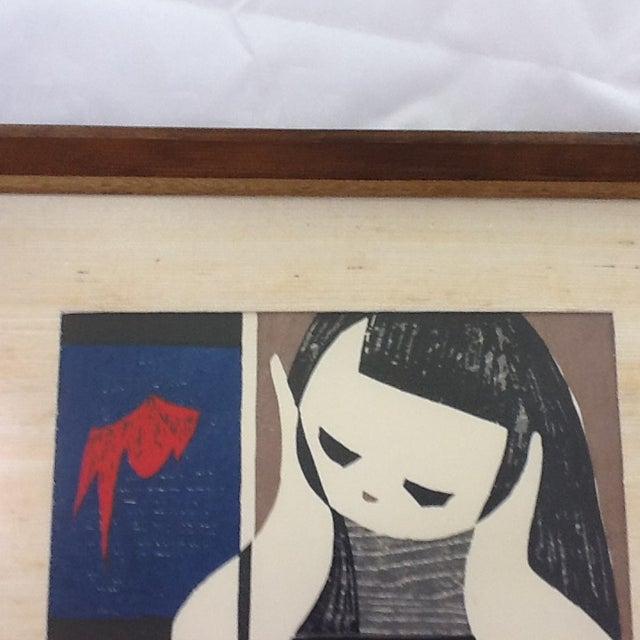 Vintage Kaoru Kawano Block Print - Image 3 of 8