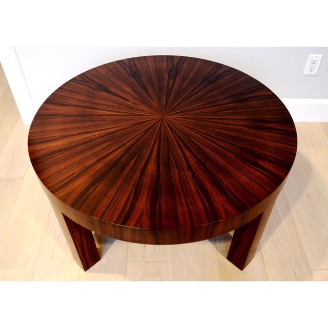 Art Deco Jean Michel Frank Style Circular Wood Coffee Table - Image 2 of 9