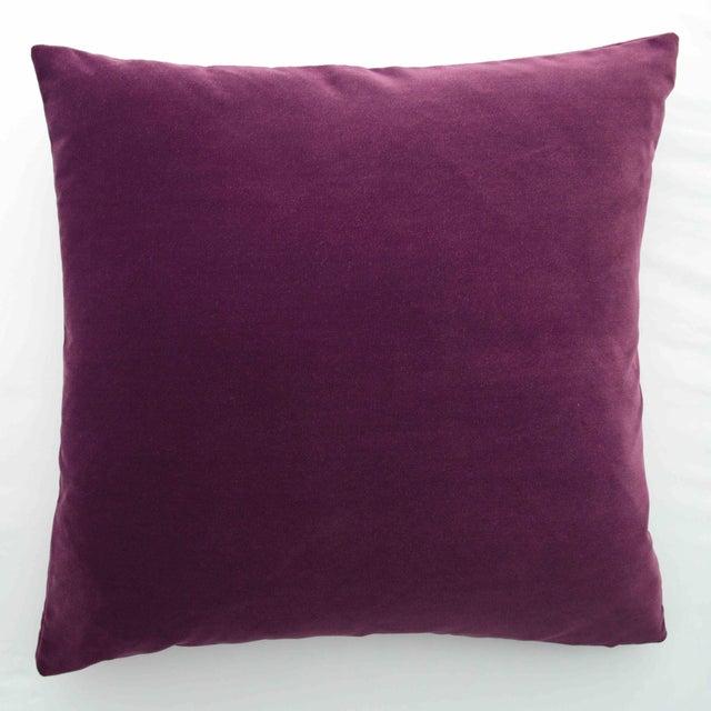 FirmaMenta Italian Solid Burgundy Velvet Pillow For Sale In San Francisco - Image 6 of 6