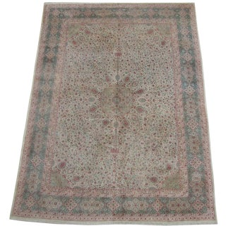 Authentic Persian Tabriz Area Rug - 15'11x11'4 For Sale