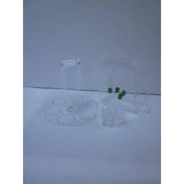Lucite Modernist Cocktail Bar Tray Set - Image 4 of 11
